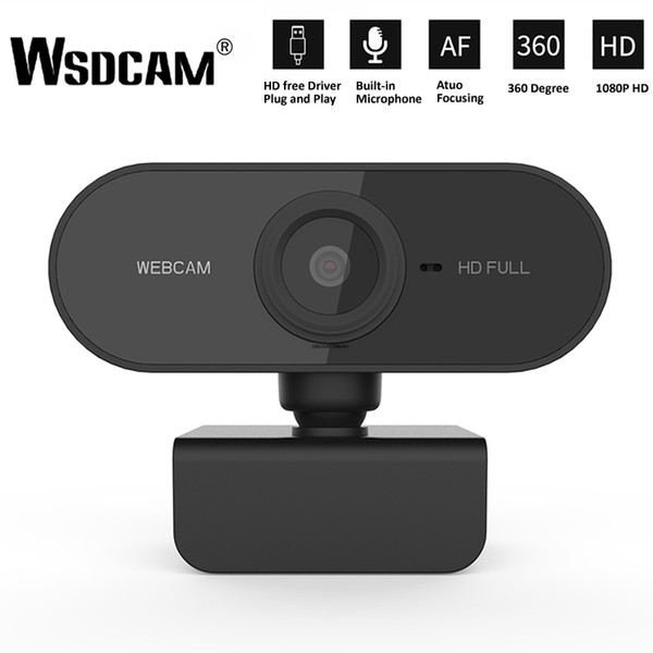 top popular HD 1080P Webcam Mini Computer PC WebCamera with Microphone Rotatable Cameras for Live Broadcast Video Calling Conference Work 2021