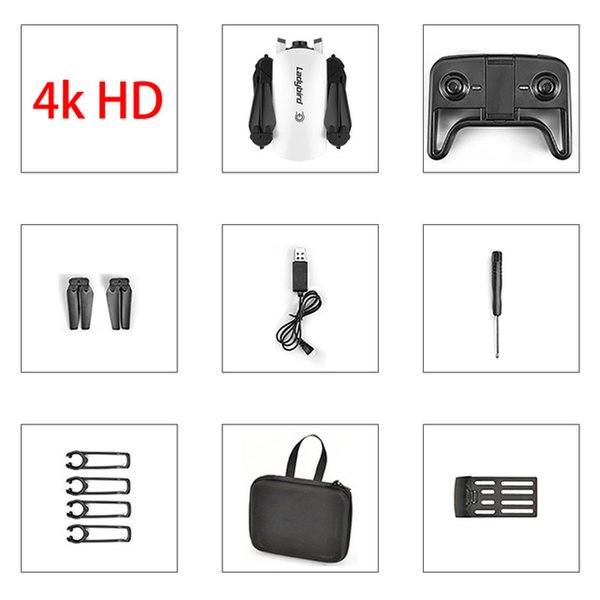 White 4K+Portable Bag