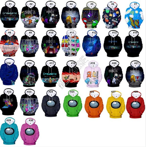 best selling Game Among Us Hoodies Unisex 3D Printed Hooded Sweatshirts Casual Men Women Blouse Sweater Tops for Adults Kids Long Sleeve Clothes D112601