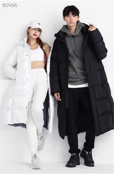 top popular 2020 Winter Long Down Jackets for Lovers Waterproof Windbreaker Parka Jacket Women Mens Down Coat Overcoat Outerwear Clothing Down Parkas 2021