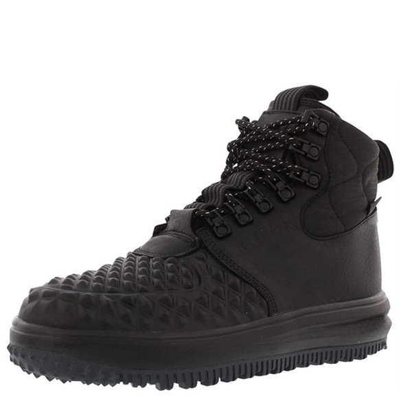best selling Men Lunar Forces 1 Hiking Shoes Duckboot Women High Classics Lace Up Sports Trainers Triple Black Outdoor Jogging Sneakers