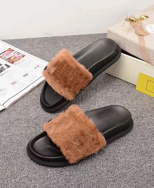 top popular Designer Fashion Keep Warm In Winter Women Home Casual Sandals Slippers Brand High-quality Flip Flops FF Free Shipping 2021