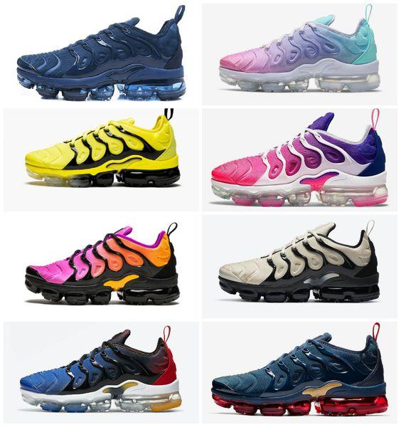 High Quality 2021 Vapores Plus Tn Running Shoes Cheap Air Plus Triple Black Men Women Be Ture OREO Hyper blue mens trainers Sports Sneakers