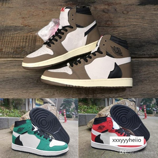 best selling High TS SP x 1 Travis Scotts 1s Chicago OG Celtics Mens Women Basketball Shoes Dark Mocha Red Green Trainers Sports Sneakers