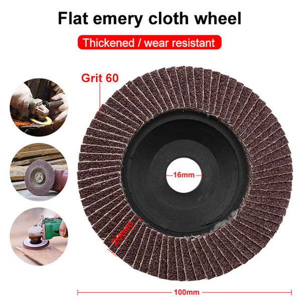 best selling Red Brown Rust removal and grinding 100 type red hundred impeller net cover thickening type louver polishing wheel abrasive cloth