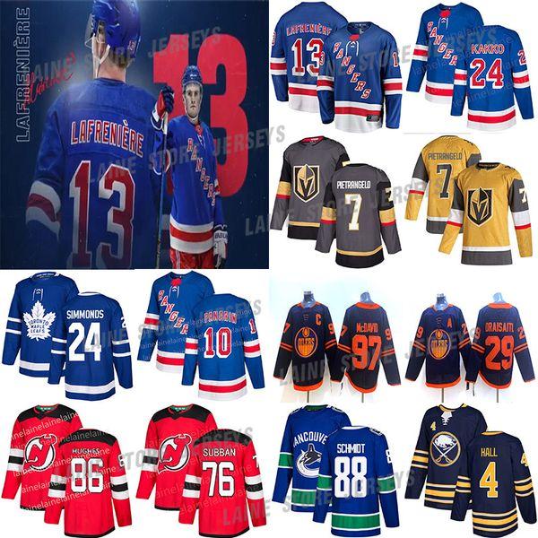 top popular New York Rangers 13 Alexis Lafreniere 24 Kaapo Kakko 10 Panarin Toronto Maple Leafs 97 Joe Thornton Devils 86 Jack Hughes Hockey jerseys 2020