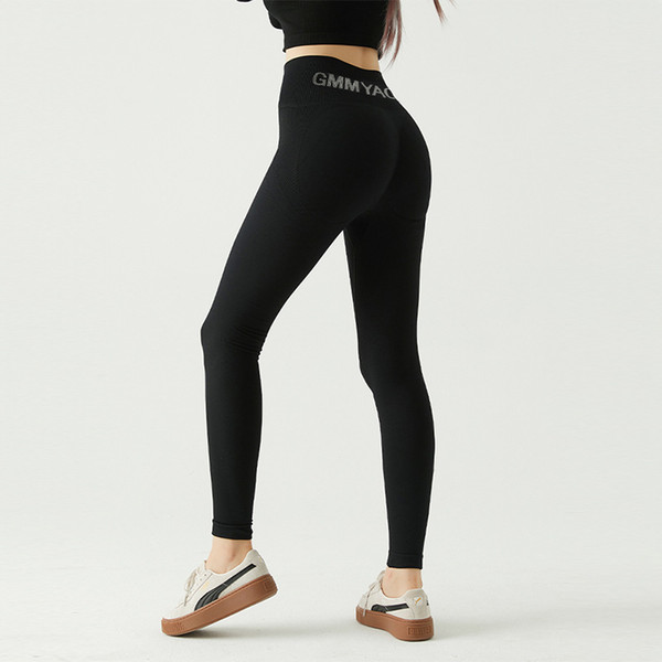 top popular The New Thickened Training Peach Hip Pants Exercise Yoga Pants Women Wear High-waisted Hip Tights Autumn and Winter Running 2021