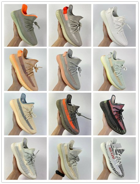 best selling top quality yeézy350shoes zebra static Reflective stripe butter sesame men fashion sneakers outdoor training
