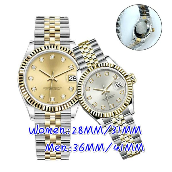top popular High quality montre de luxe Mens Automatic Watches Full Stainless steel Luminous Women Watch Couples Style Classic Wristwatches gift 2021