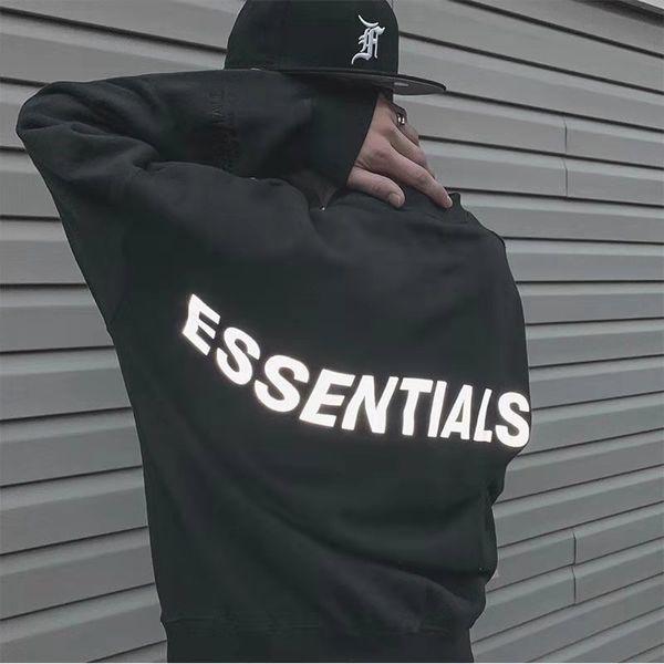 best selling Mens Womens Hoodies Essentials Reflective Long Sleeve Fleece Hoodie Fashion Solid mens hoodie mens designers hoodies sweatshirts