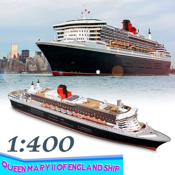 best selling 1 400 DIY 3D Paper Model Battleship Paper Battleship Model A4 Queen Mary II of England Ship Model Kit Assembly Toy Y200428