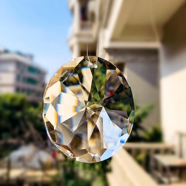 best selling 60mm Hanging Crystal Prism Suncatcher Chandelier Parts Garland Round Glass Crystal Pendant Diy Home Wedding Decor Accessories H jllsSG