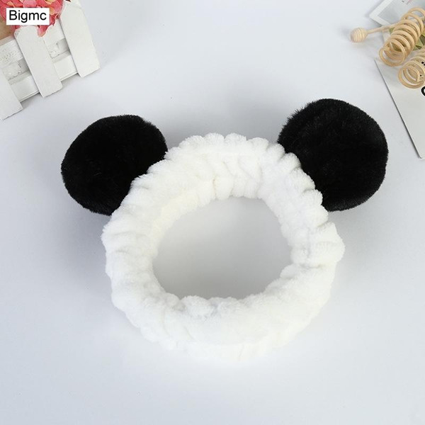 best selling New Women Panda Ears Headband Fashion Cartoon Elastic Cute Plush Twisted Hair Band Warm Hair Accessories gift Jewelry A5111