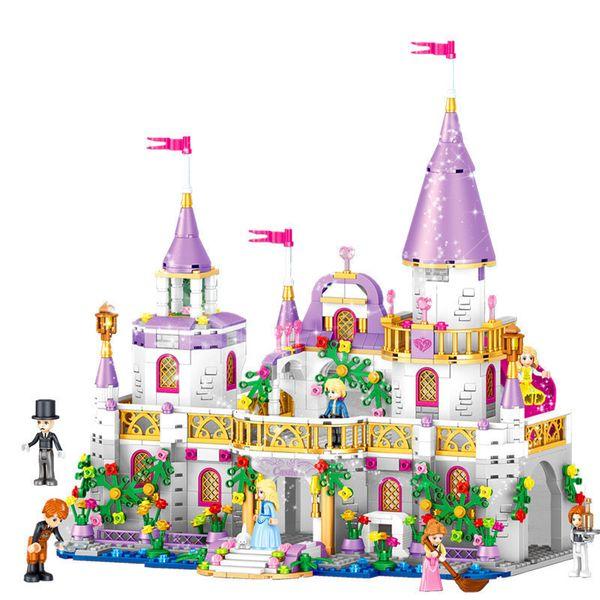 best selling 731 shares ings Friends Princess Windsors CASTLE DIY model building blocks kit toys for girls for birthday Christmas presen