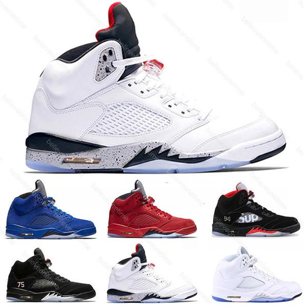 best selling 2020 Jumpman Island Green 5 5s mens basketball shoes Desert White Grape White Cement Metallic 3M Reflect men sports sneakers designer