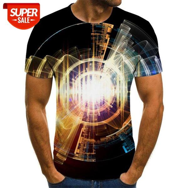 top popular Summer 3D printing men's T-shirt casual short-sleeved O-neck men's T-shirt colorful fashion printing 3D top #9N0u 2021