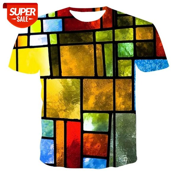 best selling New T-shirt men high quality men's T-shirt short sleeve glass art 3D printing fashion handsome men's #sM4m