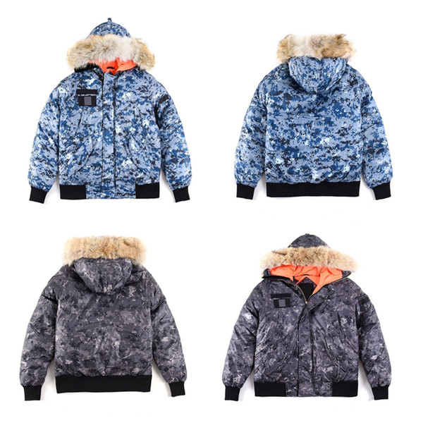 top popular New style canada short down jacket OVO bomber jacekt limited edition jointly signed tickened warm keeping down winter outdoor parka men 2021