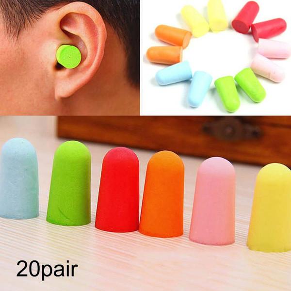 top popular 20 pairs Comfort earplugs noise reduction foam soft earplugs noise reduction protect sleep slow rebound isolation n &T8 2021