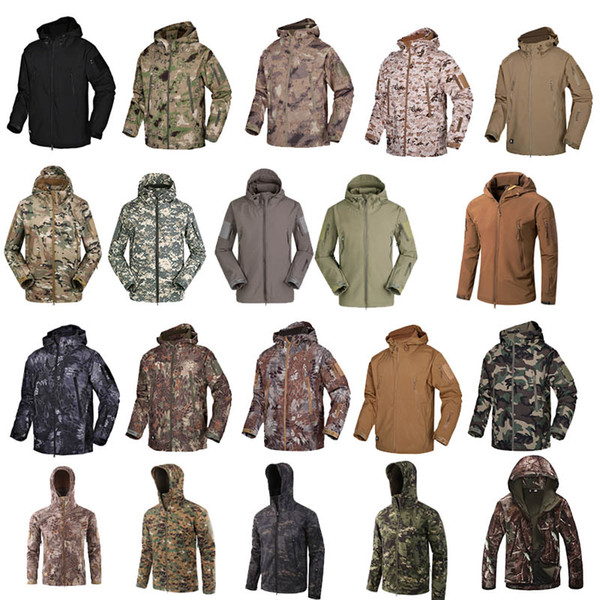 top popular Outdoor Woodland Hunting Shooting Clothing Tactical Camo Coat Combat Clothing Camouflage Outdoor Hoody Softshell Jacket P05-201 2021
