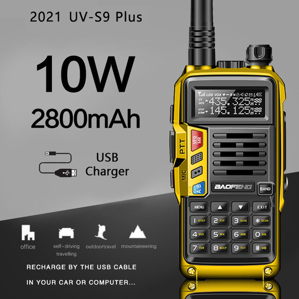 best selling 2021 BaoFeng UV-S9 Plus Powerful Walkie Talkie CB Radio Transceiver 8W 10W 10km Long Range Portable Radio For Hunt Forest City