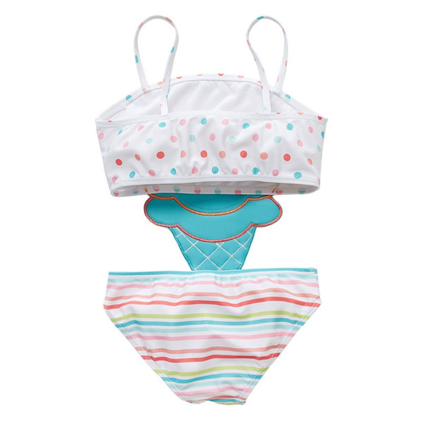 top popular ew 2019 cute ice cream Kids Swimwear One-piece Girls Swimsuit Kids Swim Suits Girls Bikini Kids Bathing Suits Child Sets Beachwear 478 K2 2021