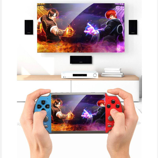 top popular In Stock X7 Handheld Game Console 4.3 inch Screen MP4 Player Video Games Retro Real 8GB Support for PSP Game Camera Video E-book 2021