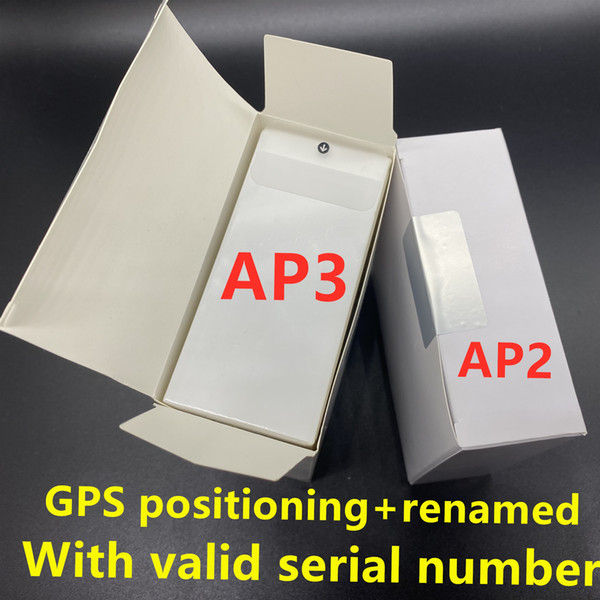 best selling 3pcs DHL UPS Free H1 chip earphones Gps Rename Air Ap3 pro Ap2 Tws Gen 2 Pods pop up window Bluetooth Headphone auto paring wireless Charge