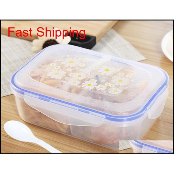 best selling 1000ml Lunch Boxes 3 Cell Food Container Healthy Plastic Bento Boxes Microwar qylEDU bdetoys