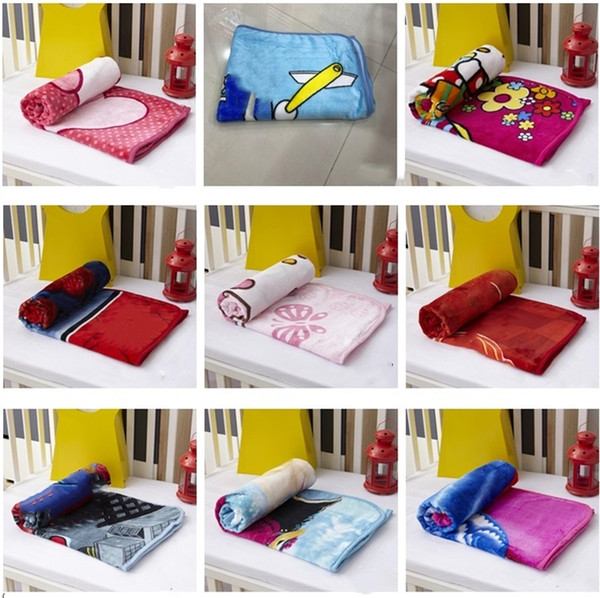 best selling New Kids Blankets Flannel duck cat Dog styles Warm cartoon Blankets Smooth Flannel Blankets Baby Beddings Swaddling Blanket 1*1.4m I110