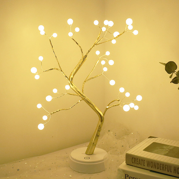 best selling 2021 Decorative Led Lamps Work Battery, on Tree, Usb, Touch, for Bedside Table, Bedroom, Night Light EYKB