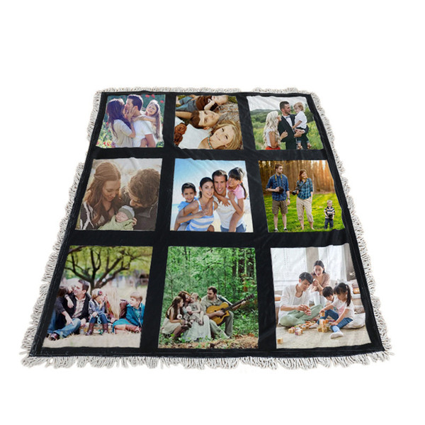 top popular Wholesale! Sublimation White Blank Blanket 9 & 15 & 20 Panels Soogan Carpet Square Blankets Theramal Transfer Printing Quilt A12 2021