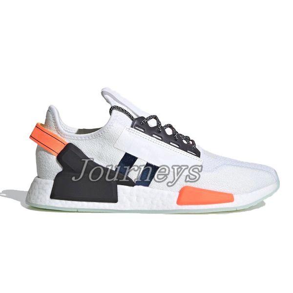 17.white Black Blue Orange