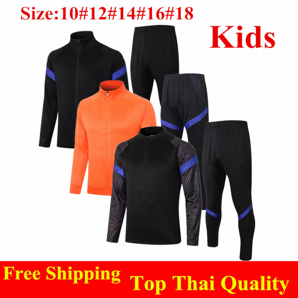 top popular Thai quality 2020 Netherlands kids Soccer tracksuit PROMES WIJNALDUM DE LIGT youth training suit MEMPHIS DE JONG child Football jacket 2021