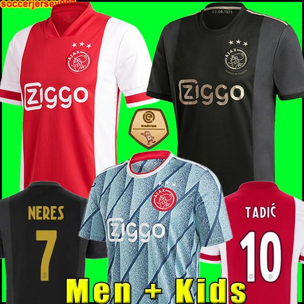top popular 20 21 AJAX amsterdam FC soccer jersey 2020 2021 KUDUS ANTONY BLIND PROMES TADIC NERES CRUYFF men kids kit football shirt uniforms third 50th 2020