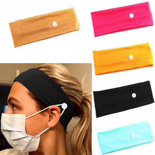 top popular Face Mask Headband Holder Sports Headbands With Button Ear Savers Headband For Face Cover Party Favor 2020