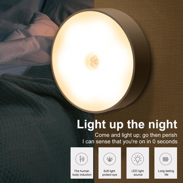 best selling 2021 New Motion Sensor Light Wall Night Usb Charging with Brightness Lighting for Living Room Bedroom Stairs Warm White white D0fl
