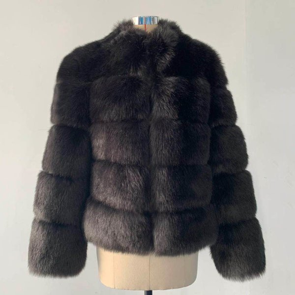 Black Fox Fur Coat