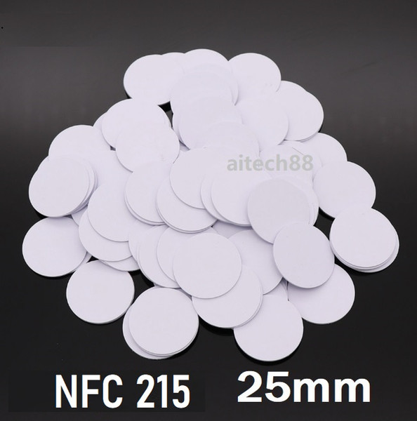 best selling Security NFC Sticker 215 CHIP Coin Tag 25mm Card NFC Forum Type 2 Tag 540 Bytes for All NFC Mobile Phone For Access Control Locking system