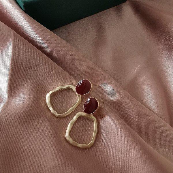 Red Premium Dumb Gold Earrings #23853