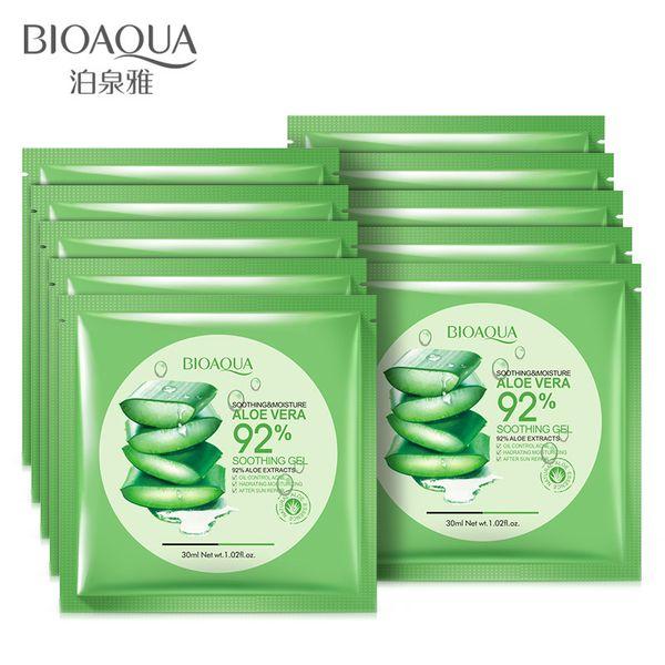 top popular New arrivalBIOAQUA Natural Aloe Vera Gel Face Mask Moisturizing Oil Control Wrapped Mask Shrink Pores Facial Mask Cosmetic Skin Care 2021