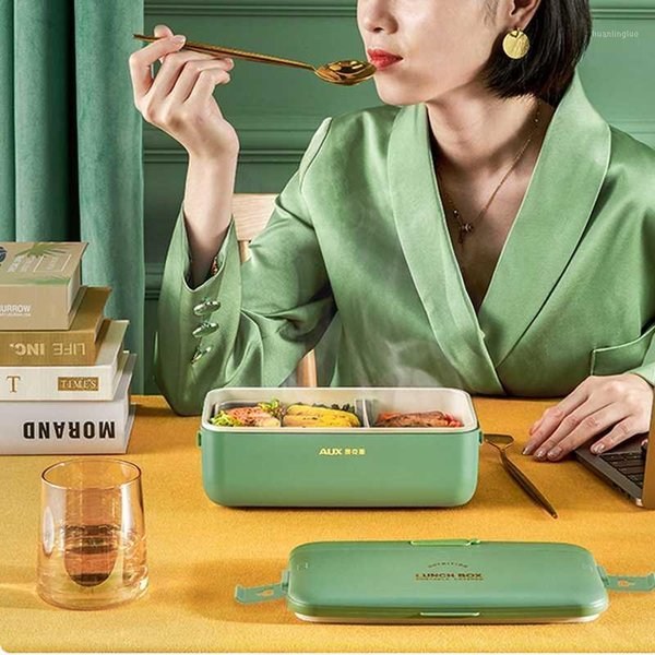 best selling 220V Electric Lunch Box Water Free Portable Lunch Heating Box Rice Cooker Constant Temperature Heating Mini Warmer 800ml1