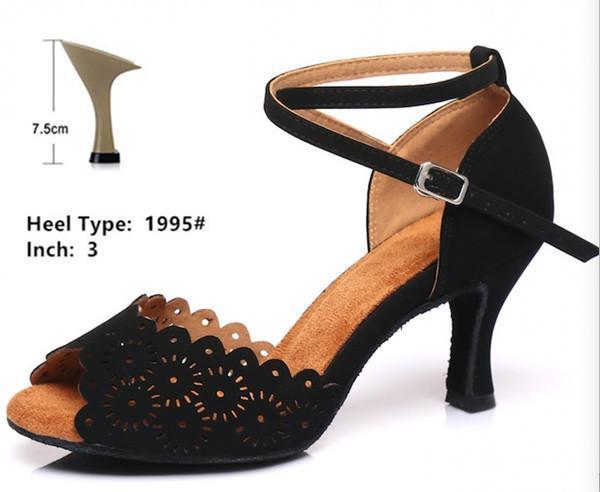 Черный 7.5cm каблук