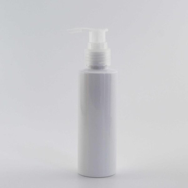 120ml White Bottle Clear Plastic
