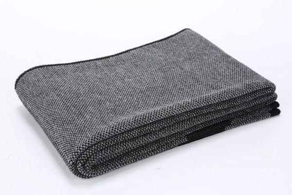 Noir gris rayé sur les 180cmx30cm