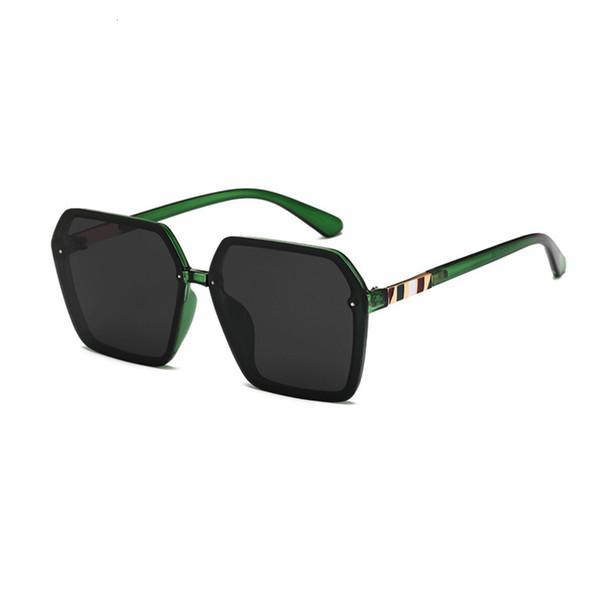 Grüner Rahmen schwarz grau (polarisierende Augenschutzlinse)
