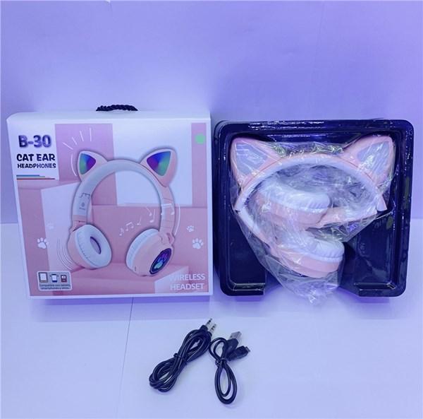 B30 Cat ухо наушники с коробкой