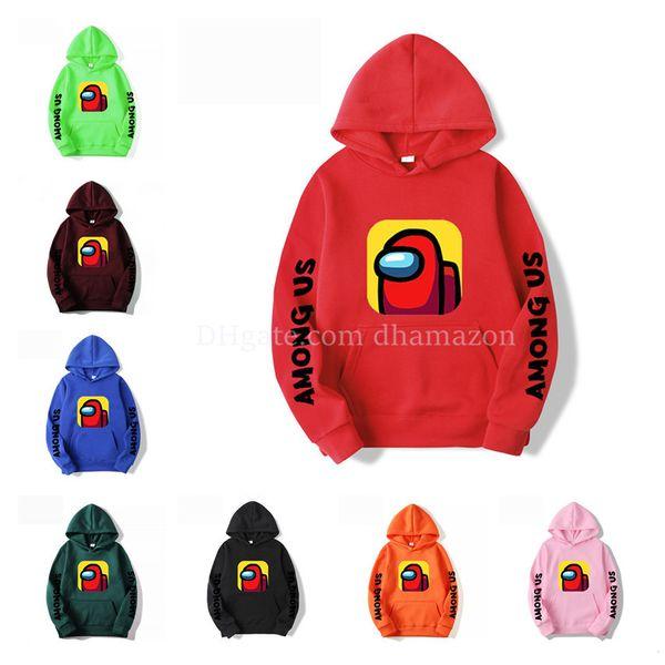 top popular New Game Among Us Hoodie Sweatshirts Men Women Fashion Casual Pullover Harajuku Streetwear Oversized Hoodies DHL Free Shipping 2021