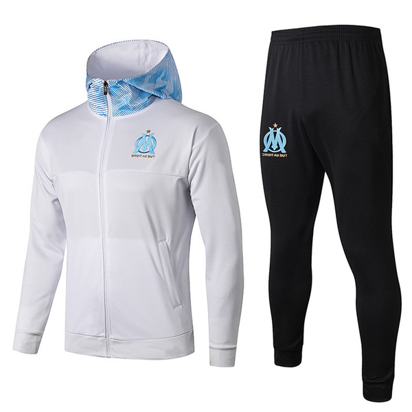 marseille white Hoodies Jacket