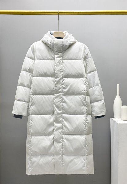 best selling Mens Down Jackets for Lovers Winter Waterproof Long Hooded Windbreakers Parkas Jackets Woman Man Down Coat Overcoat Outerwear Down Parkas